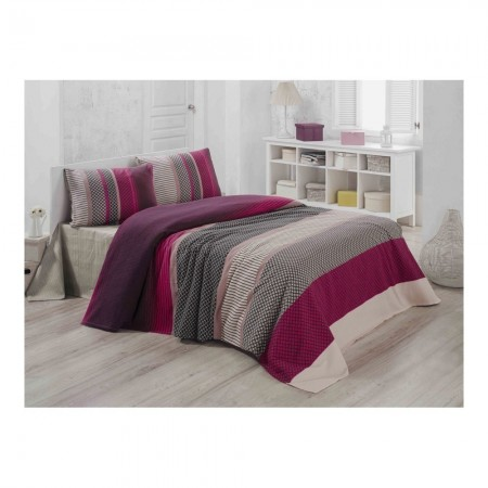 Couvre-lit 240x220 - Pink/Fuchsia/Black/Grey/White - 121VCT45233