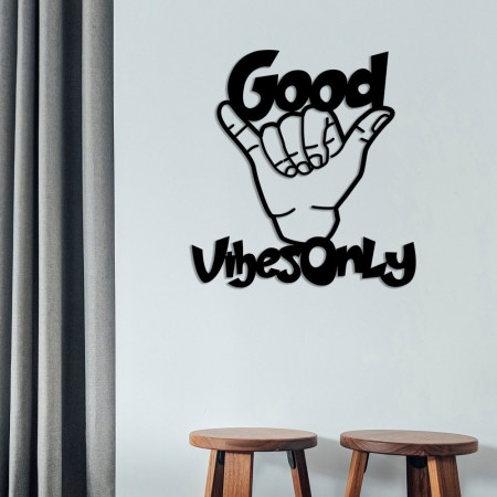 Décoration murale - Good Vibes Only - Black - 538TNL1109