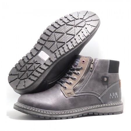Chaussures montantes - Gris - AMU W8N060
