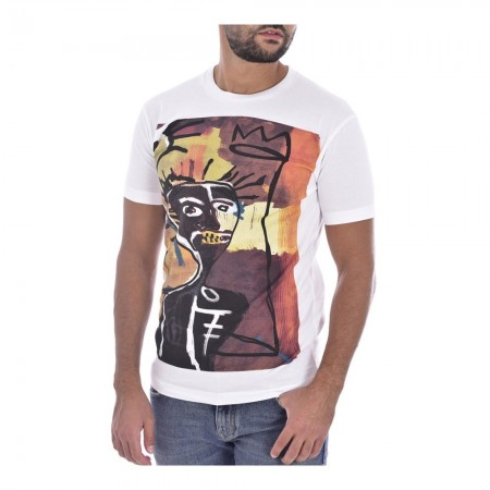 Tee shirt coton print africa - DSQUARED2 - 100 White - S71GD0621