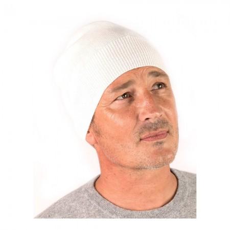 Bonnet Style 1 - Ivory - 100% cashmere