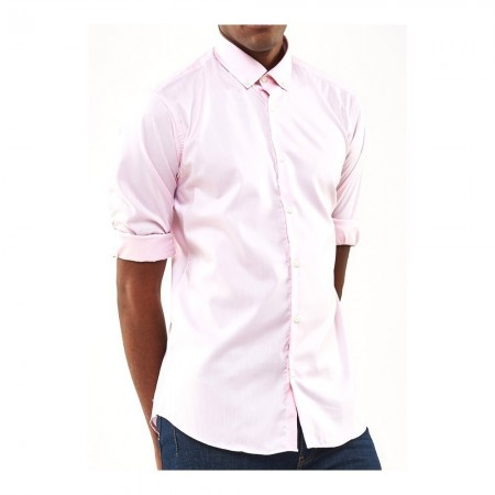 Chemise Smart Casual Slim Fit - Pink - CC-9