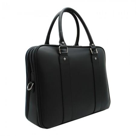 Briefcase en Cuir 36x28x13 cm - Noir BA100