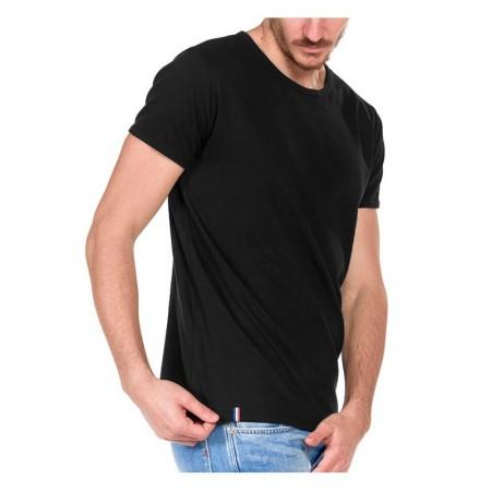 T-Shirt Manches Courtes Homme Col Rond Noir bb8fbc90f756