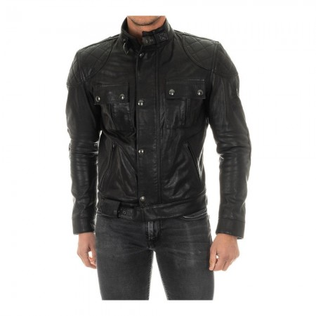 Blouson de moto en cuir Brooklands - Black