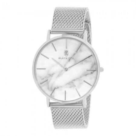 Montre analogique Blanc/Argent - Bracelet Acier Argenté