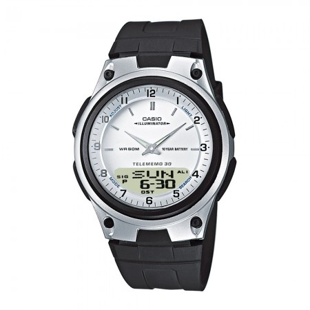Montre double affichage homme AW-80-7AVES black/white