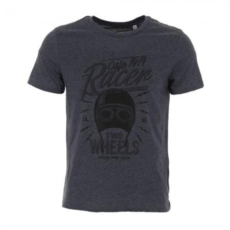 Tee-shirt MC homme CAFE 1974 bleu chiné