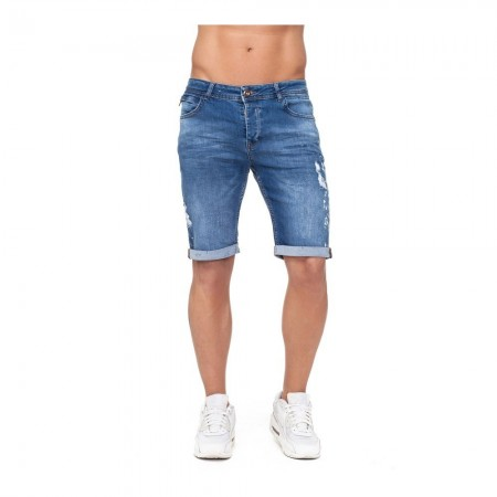 Short en jeans - Avenue George V - Bleu - GV213