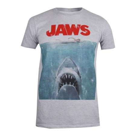 T-shirt - Jaws - Movie Poster - Gris marl - GBMTS377SPO