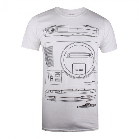 T-shirt - Mega Drive - Spec - Blanc - POMTS049WHT