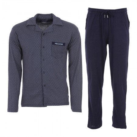 Pyjama Long Manches Longues Hechter Paris - Marine