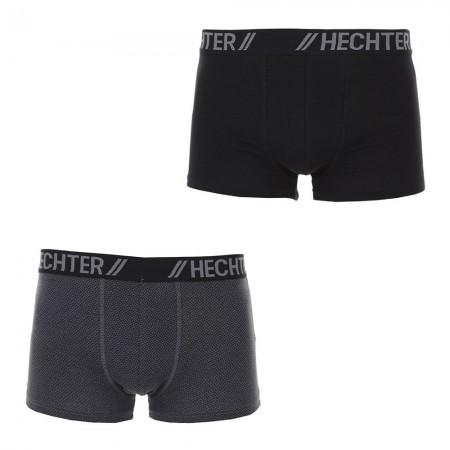 Lot De 2 Boxers: Boxer Uni Et Imprimé  Hechter Paris - Imprime/Noir