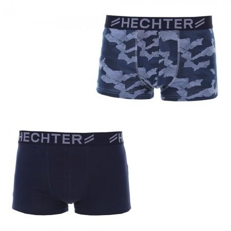 Lot De 2 Boxers: Boxer Uni Et Imprimé  Hechter Paris - Imprime/Marine
