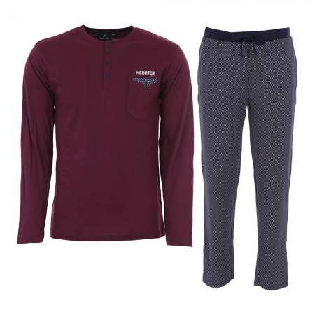 Pyjama Long Manches Longues Hechter - Rouge/Marine