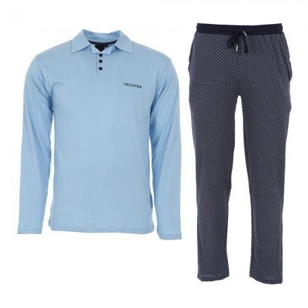 Pyjama Long Manches Longues Hechter Paris - Bleu/Marine