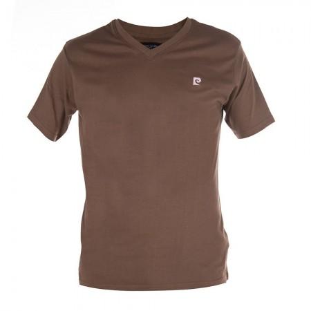 T-shirt Col V - Marron