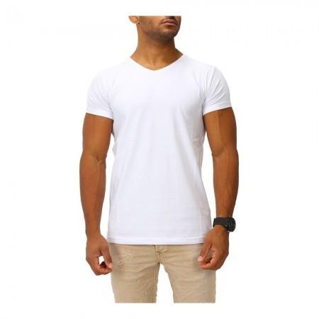 T-shirt Joe Franks - V-Neck Deep - Blanc