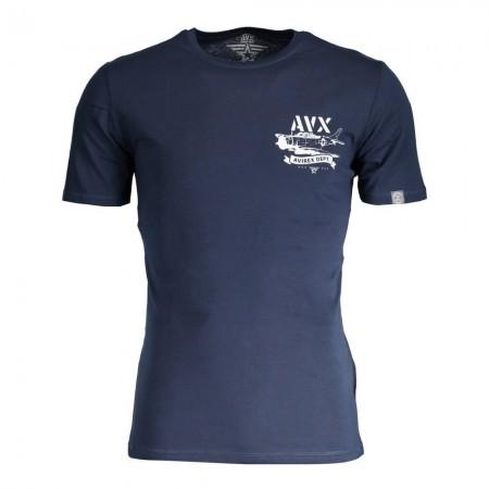 T-shirt - AVX AVIREX DEPT - Blu - AVBWTS01MEBE