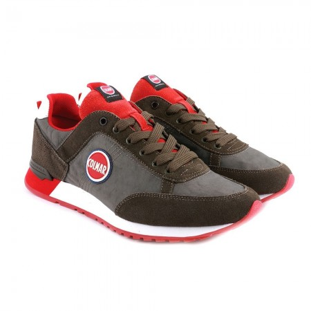 Chaussures homme TRAVIS COLORS dk green/red