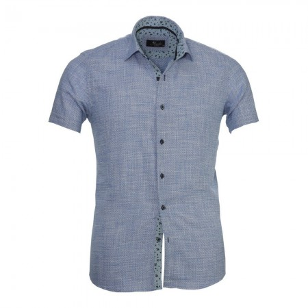 Chemise - Amedeo - Blue White Squares - AESS8332